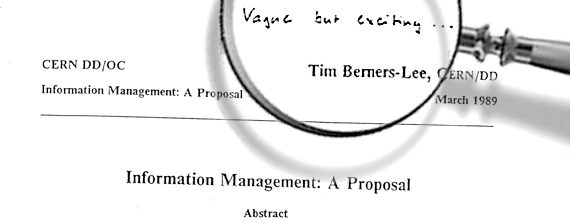 The roots of the Internet, in Tim Berners-Lee's original proposal. (Image Source: https://flic.kr/p/67bqGj)